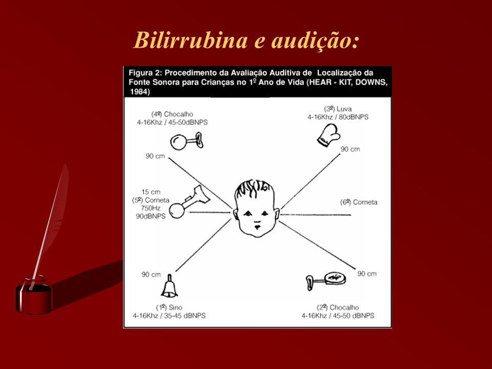 Bilirrubina e audição: