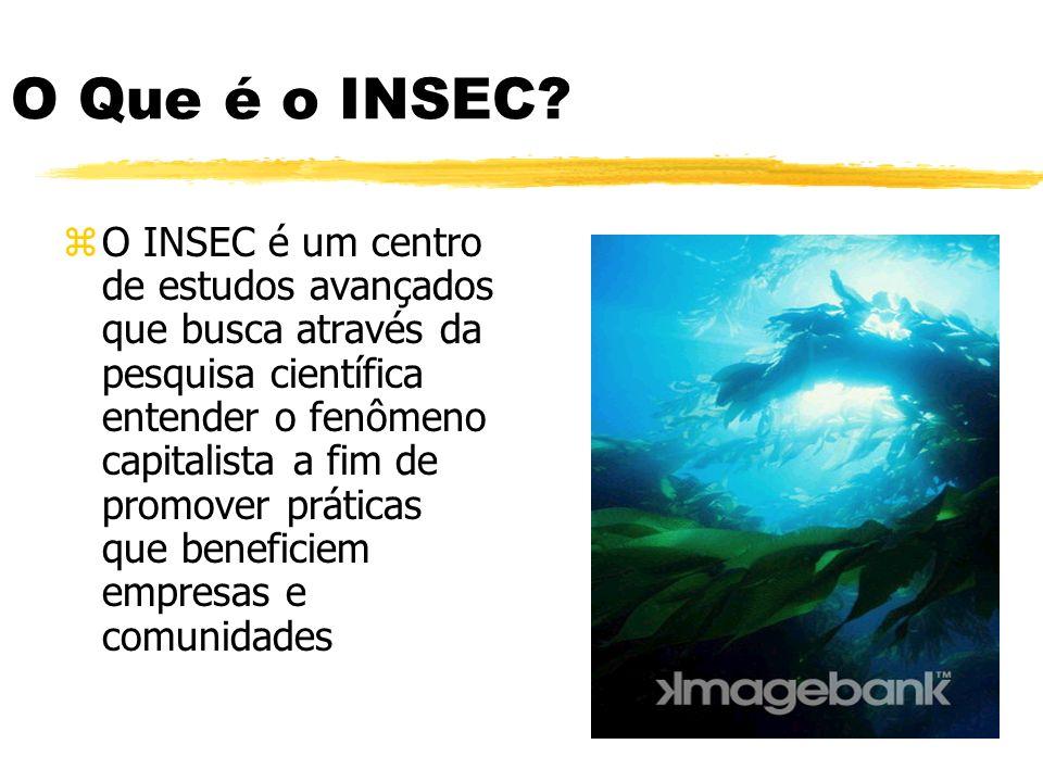 O Que é o INSEC? zO INSEC é um centro de estudos avançados que busca através da pesquisa científica entender o fenômeno capitalista a fim de promover