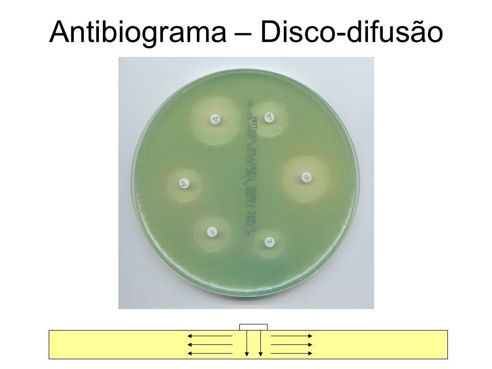Antibiograma – Disco-difusão
