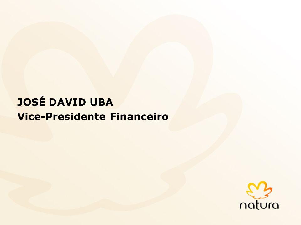 32 JOSÉ DAVID UBA Vice-Presidente Financeiro