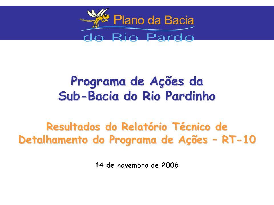 Programa de Ações da Sub-Bacia do Rio Pardinho Resultados do Relatório Técnico de Detalhamento do Programa de Ações – RT-10 14 de novembro de 2006