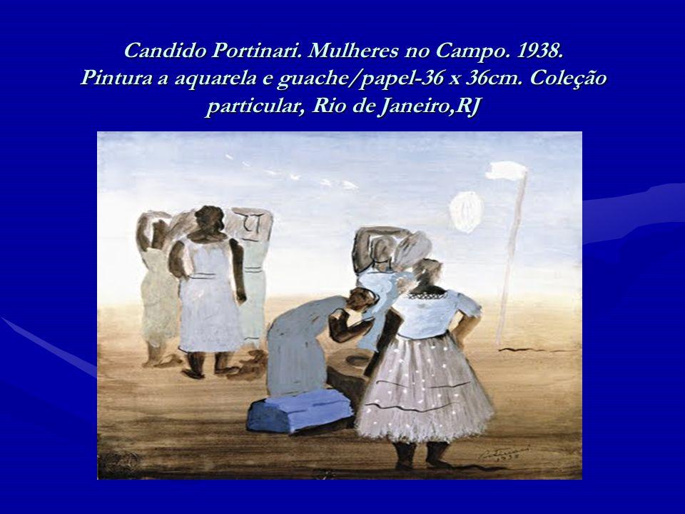 Candido Portinari. Mulheres no Campo. 1938. Pintura a aquarela e guache/papel-36 x 36cm. Coleção particular, Rio de Janeiro,RJ