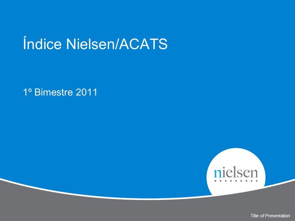 Title of Presentation Índice Nielsen/ACATS 1º Bimestre 2011