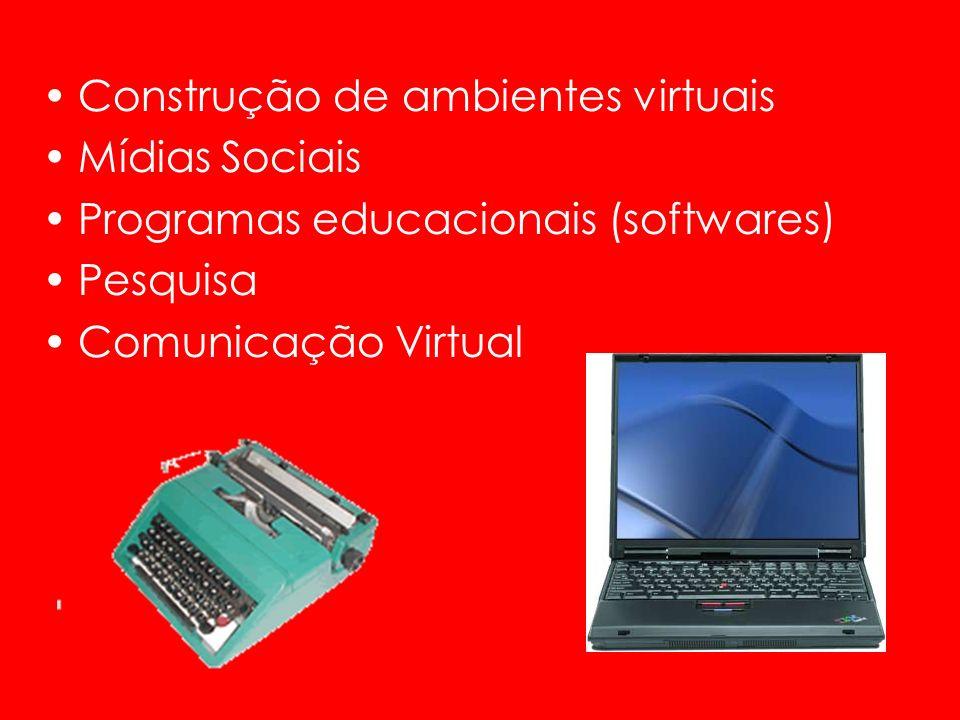 Construção de ambientes virtuais Mídias Sociais Programas educacionais (softwares) Pesquisa Comunicação Virtual