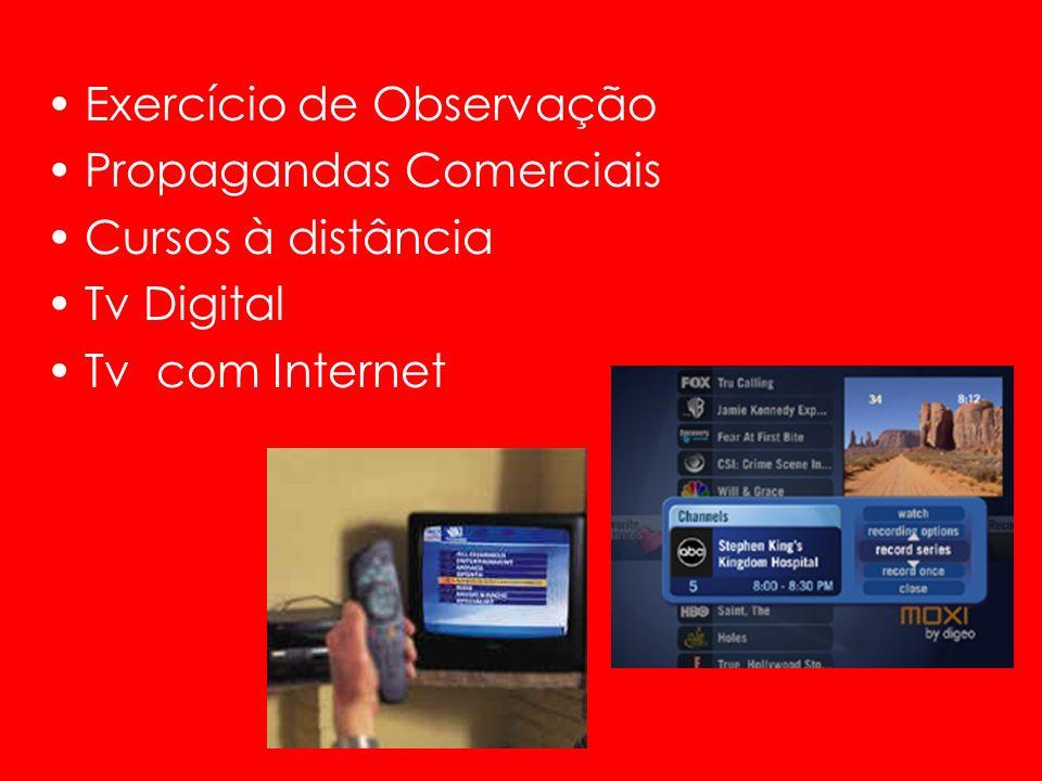 Exercício de Observação Propagandas Comerciais Cursos à distância Tv Digital Tv com Internet