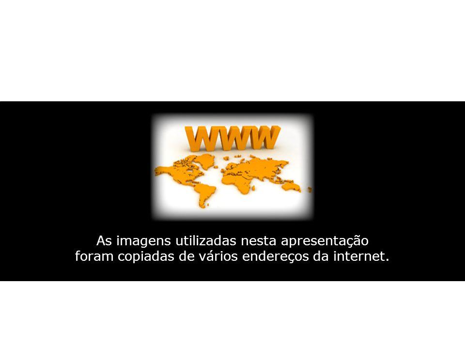 As imagens utilizadas nesta apresentação foram copiadas de vários endereços da internet.