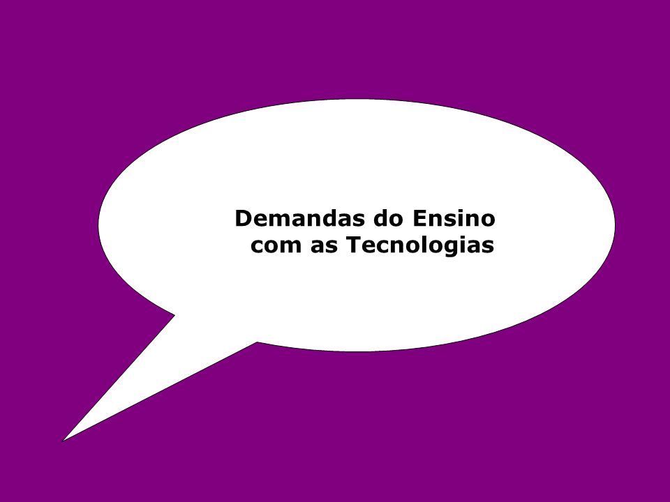 Demandas do Ensino com as Tecnologias