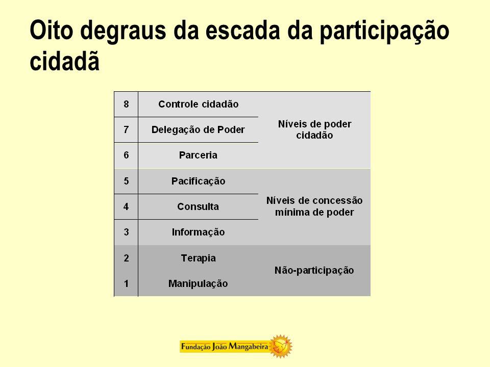 Oito degraus da escada da participação cidadã