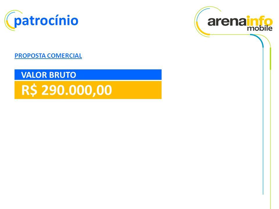 patrocínio PROPOSTA COMERCIAL R$ 290.000,00 VALOR BRUTO