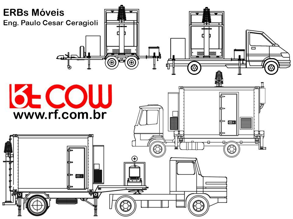Definição COW: Cellular On Wheels ERB Móvel: Estação Rádio Base Móvel