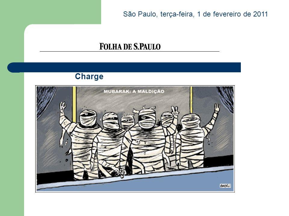Charge São Paulo, terça-feira, 1 de fevereiro de 2011