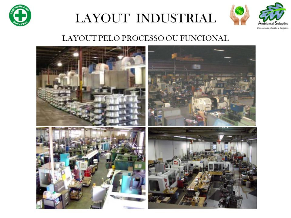 LAYOUT PELO PROCESSO OU FUNCIONAL LAYOUT INDUSTRIAL
