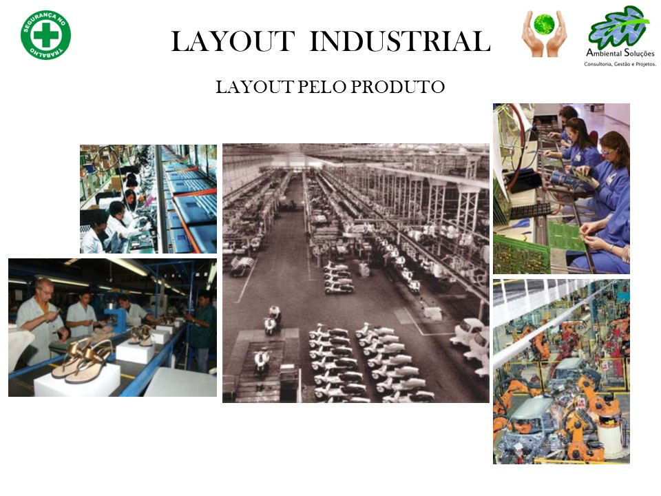 LAYOUT PELO PRODUTO LAYOUT INDUSTRIAL
