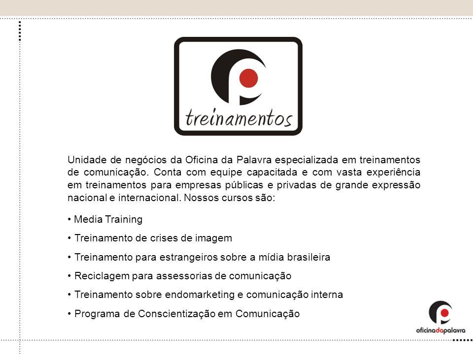 Unidade de negócios da Oficina da Palavra especializada em treinamentos de comunicação. Conta com equipe capacitada e com vasta experiência em treinam