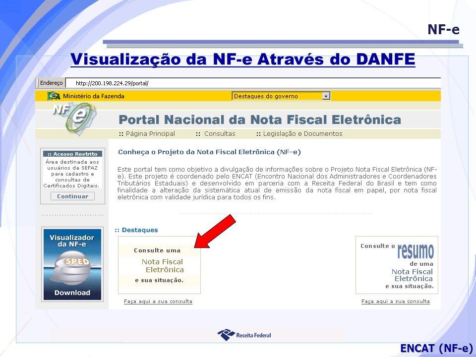Secretaria da Fazenda ENCAT (NF-e) NF-e Visualização da NF-e Através do DANFE