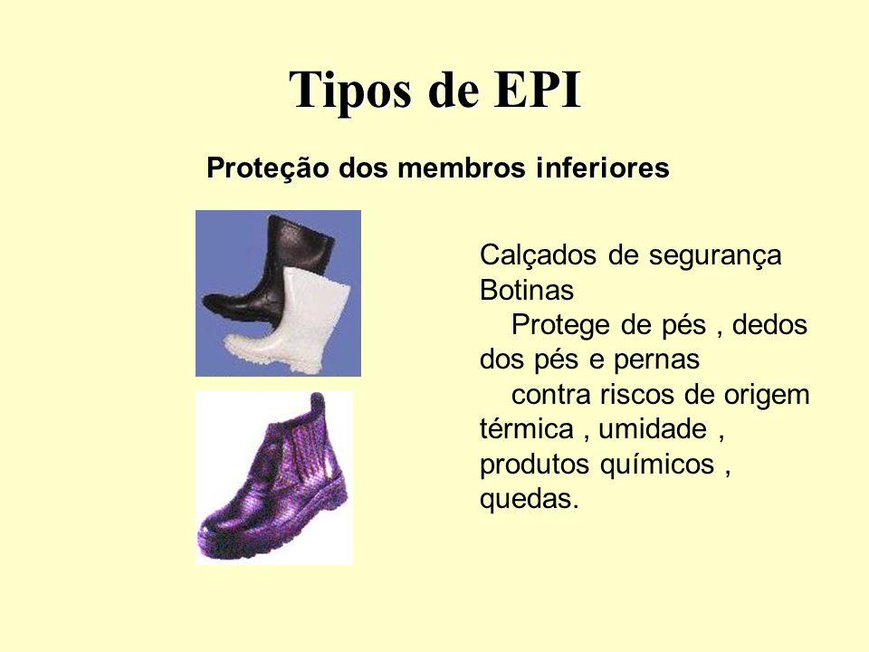 Tipos de EPI Luvas de proteção Mangotes.Dedeiras.