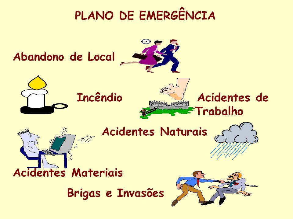 ORGANIZAÇÃO DO PLANO DE EMERGÊNCIA Equipe de Coordenação Responsável pela organização das ações do Plano de Emergência em todos os níveis Equipe de Brigada de Incêndio Atua quando da ocorrência de incêndios ou em sua prevenção