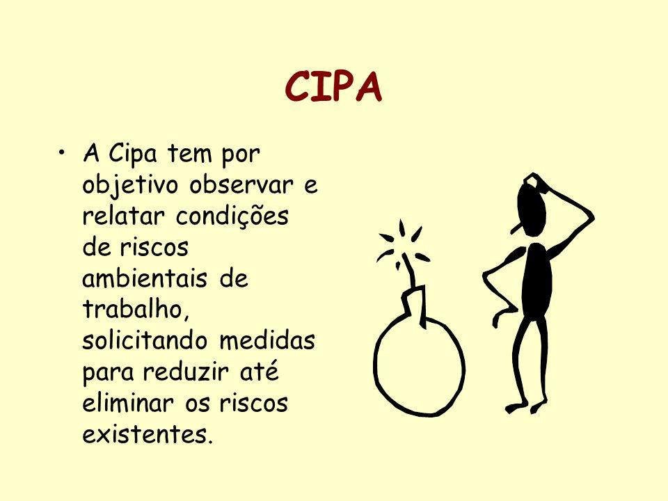 ORGANIZAÇÃO DA CIPA A Cipa possui representantes indicados pela Empresa e representantes eleitos pelos empregados, através de eleição específica.