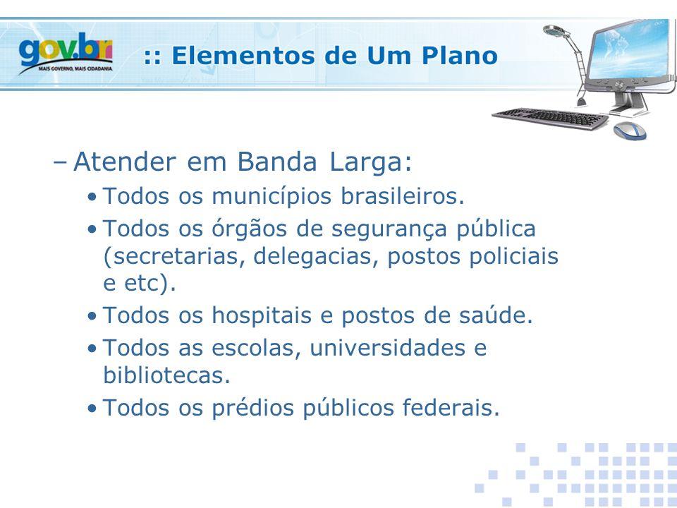 –Atender em Banda Larga: Todos os municípios brasileiros.