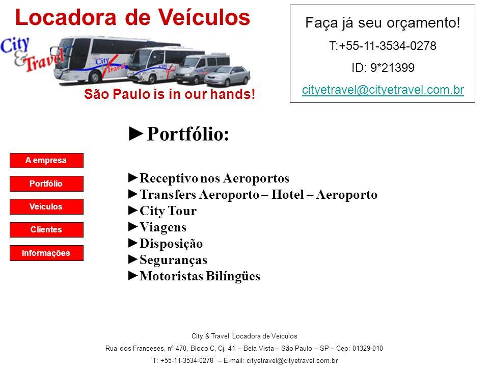 City & Travel Locadora de Veículos Rua dos Franceses, nº 470, Bloco C, Cj.
