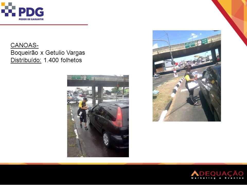 CANOAS- Inconfidência x Getulio Vargas Distribuído: 1.800 folhetos