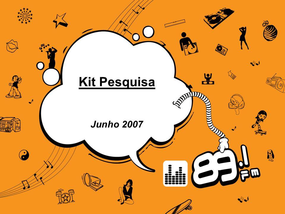 Fonte: IBOPE EasyMedia – Gde. São Paulo – Abr à Jun/07 Vanessa Ebarra – Pesquisa GC2 Kit Pesquisa Junho 2007