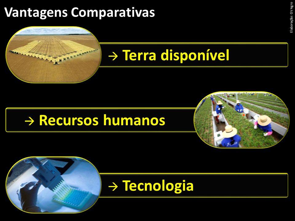 Vantagens Comparativas Elaboração: GV Agro Terra disponível Tecnologia Recursos humanos