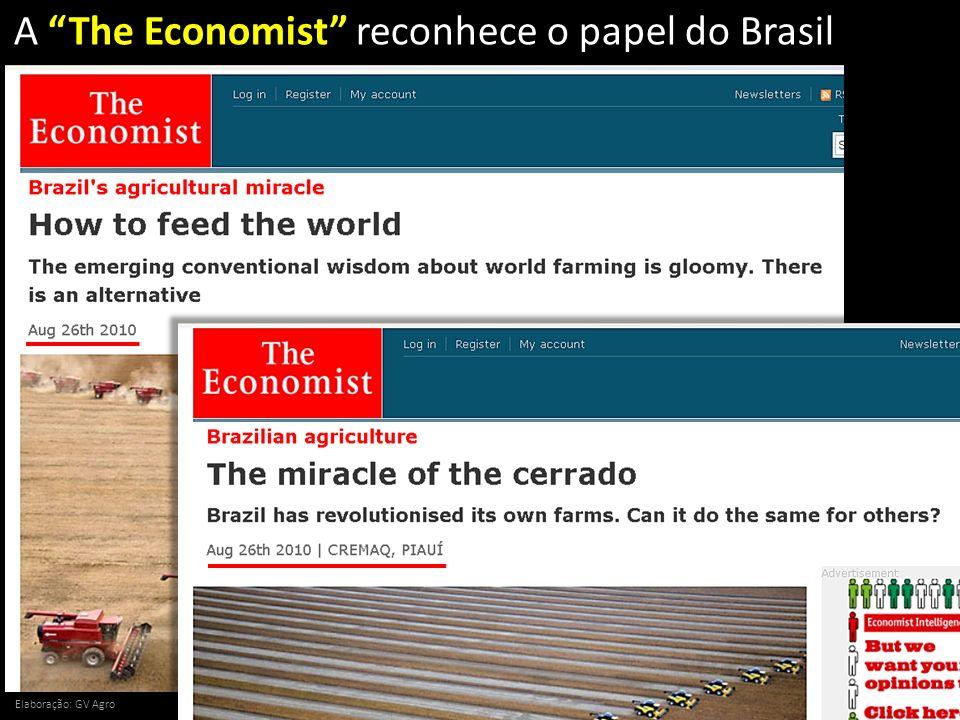 A The Economist reconhece o papel do Brasil Elaboração: GV Agro