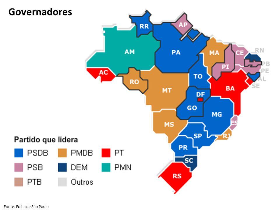 Governadores Fonte: Folha de São Paulo