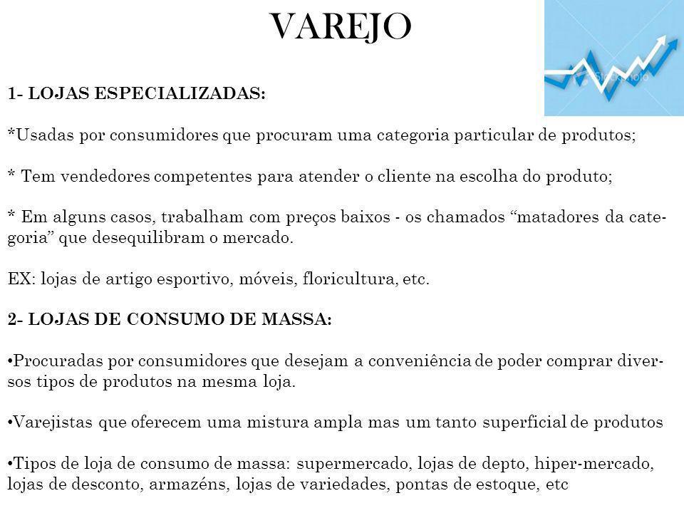 TENDÊNCIAS DO VAREJO 2- CRIAR UMA PROPOSTA DE MARCA DIFERENCIADA Aposta nos produtos de marca própria: apoiando-se no prestígio do nome do varejista, na sua qualidade e em preços baixos.