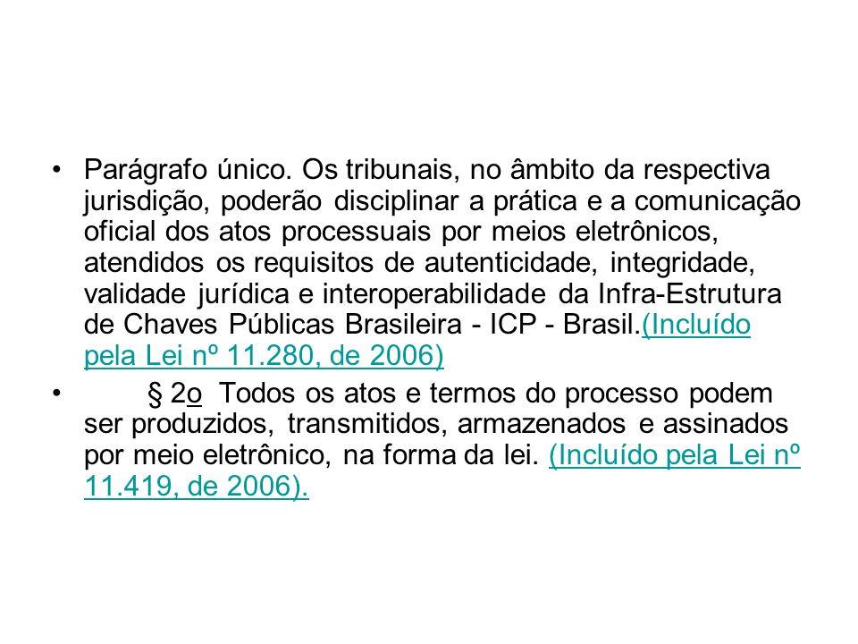 Parágrafo único. Os tribunais, no âmbito da respectiva jurisdição, poderão disciplinar a prática e a comunicação oficial dos atos processuais por meio