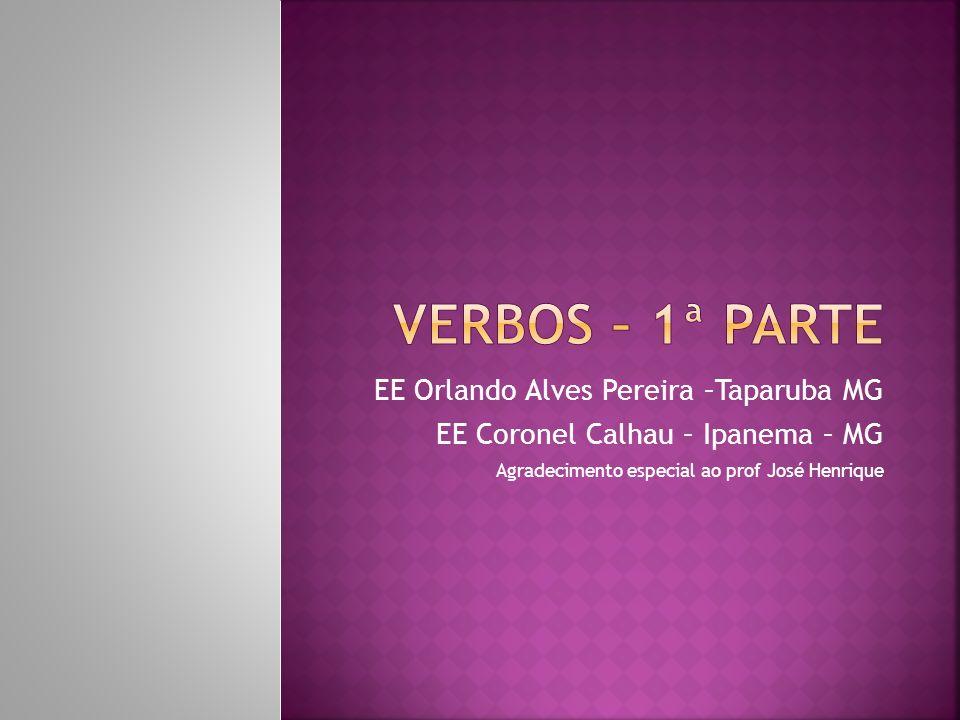 Há três conjugações em Português caracterizadas pela vogal temática: 1ª conjugação: aaa 1ª conjugação: verbos que terminam em vogal temática –a: estud-a-r, fic-a-r, rem-a-r.