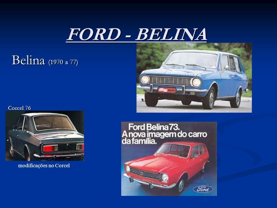 FORD - BELINA Belina (1970 a 77) Belina (1970 a 77) Corcel 76 modificações no Corcel