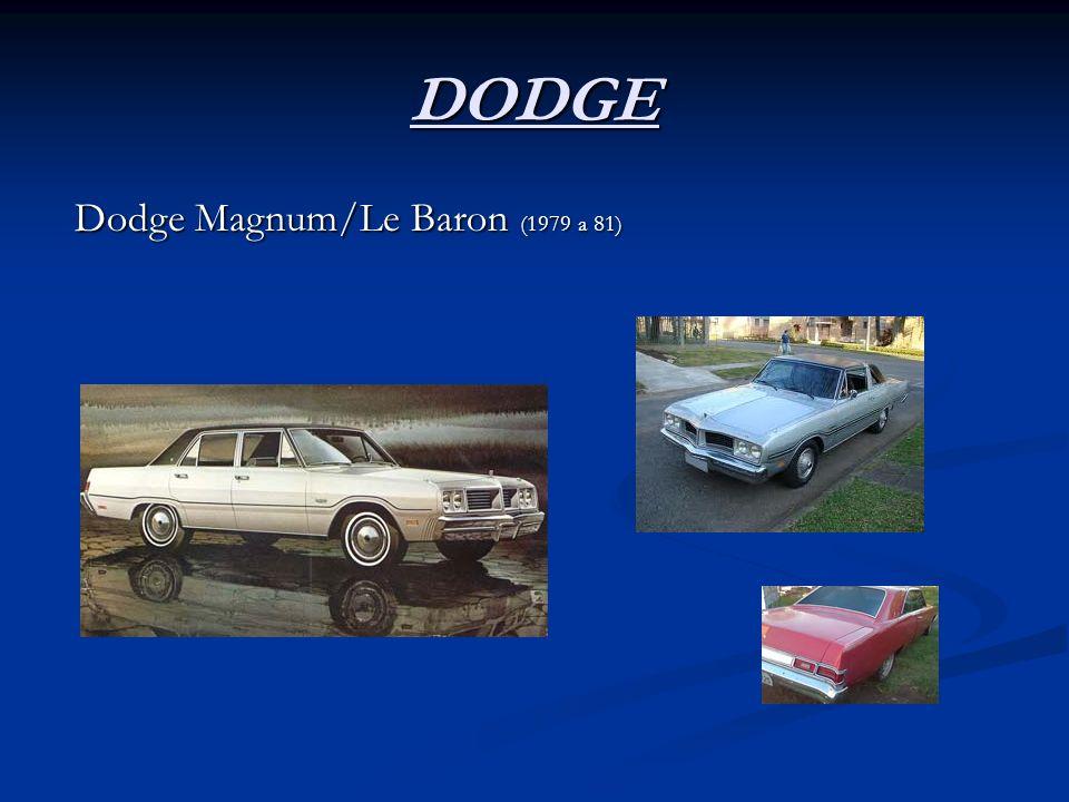 DODGE Dodge Magnum/Le Baron (1979 a 81) Dodge Magnum/Le Baron (1979 a 81)