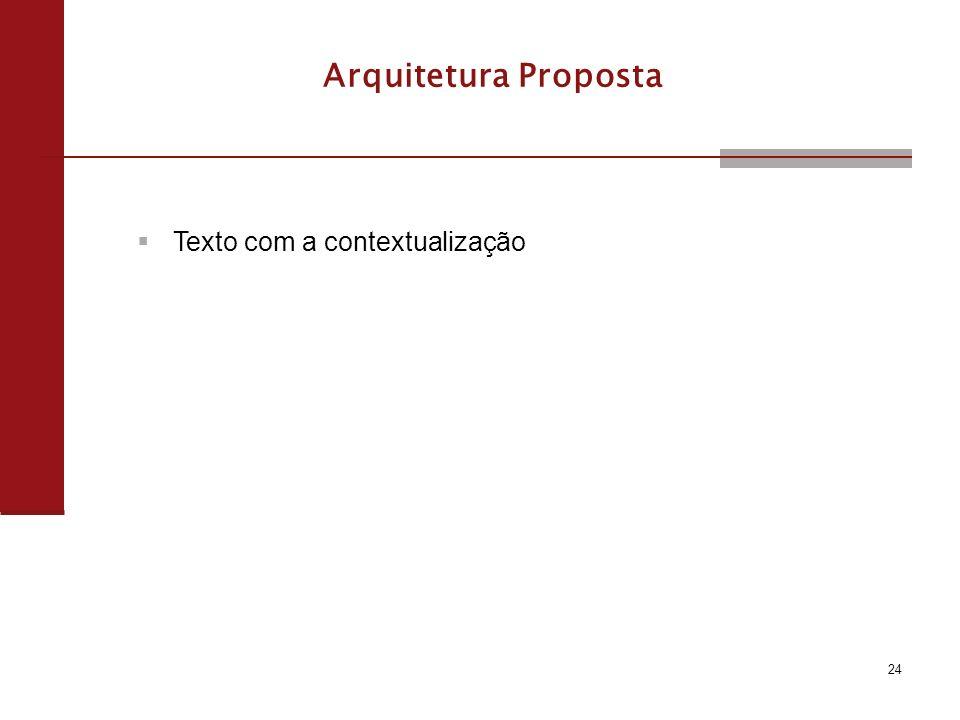 24 Arquitetura Proposta Texto com a contextualização