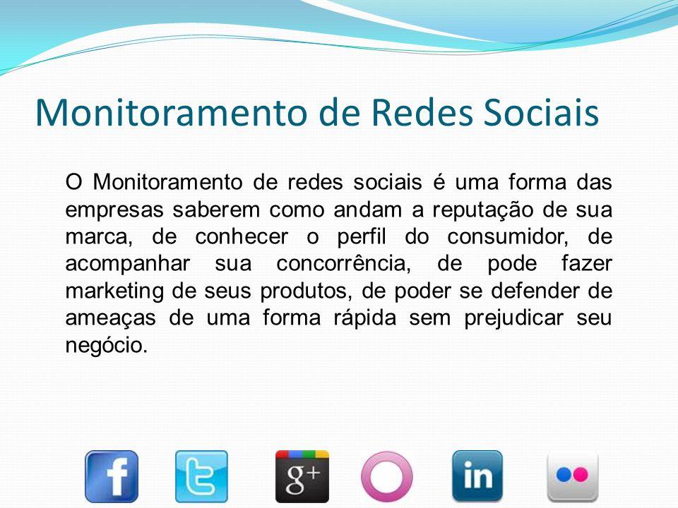 Monitoramento de Redes Sociais Com os surgimento da redes sociais as pessoas ganharam força para decidir e dar opiniões de como as empresas devem criar e comercializar seus produtos.