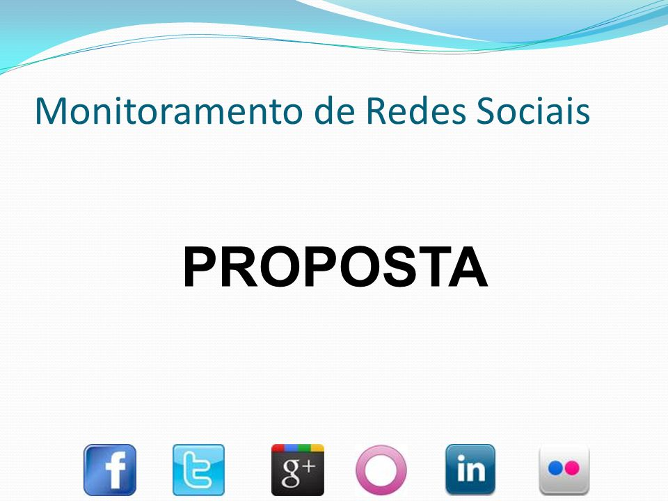Monitoramento de Redes Sociais DESENVOLVER UM SOFTWARE DE MONITORAMENTO DE REDES SOCIAIS