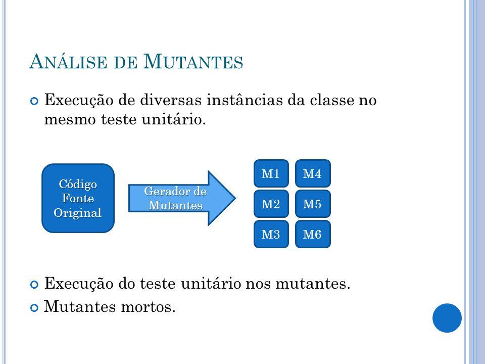 M UT # Referências Bibliográficas: A.BARTIÉ. Garantia da Qualidade de Software.