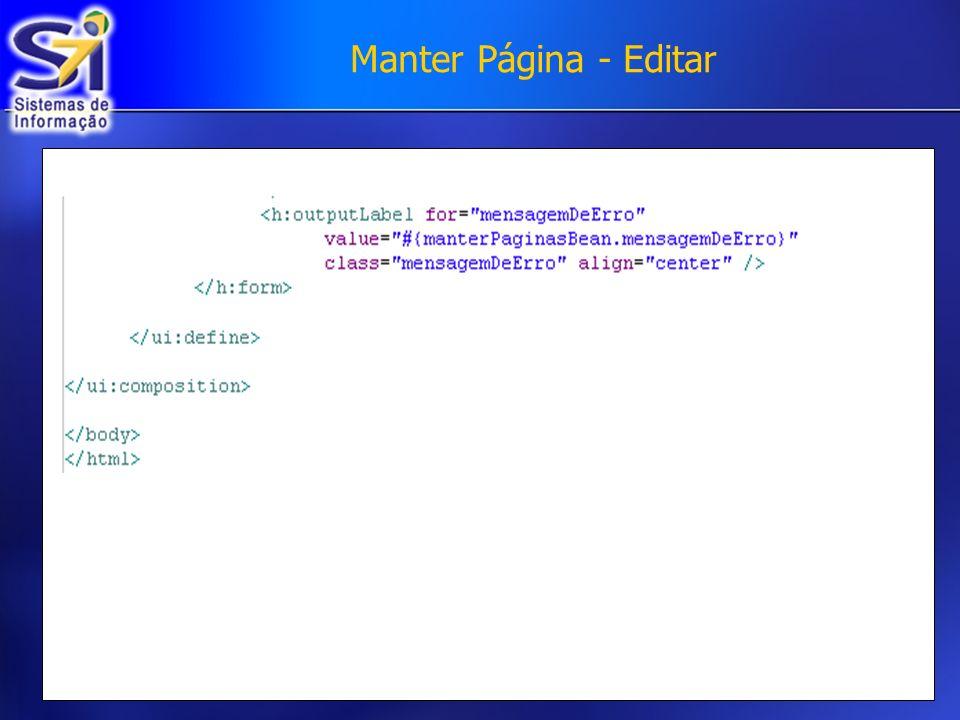 Manter Página - Editar