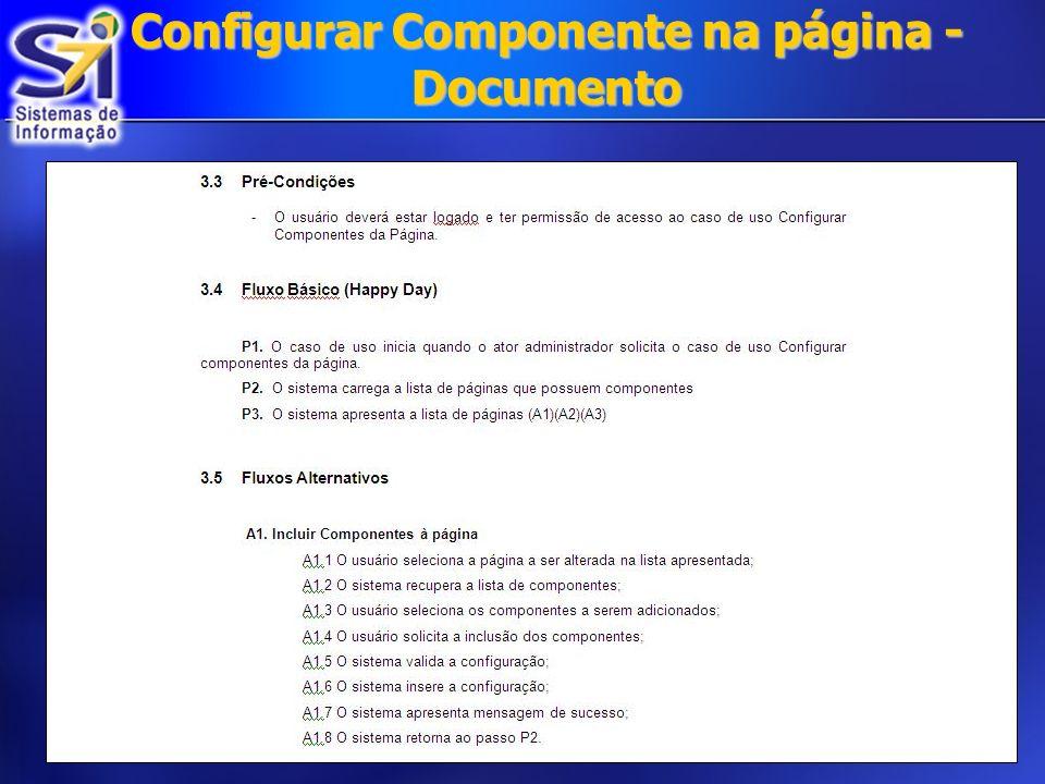 Configurar Componente na página - Documento