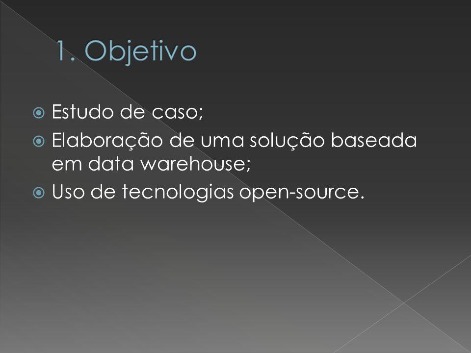 Estudo de caso; Elaboração de uma solução baseada em data warehouse; Uso de tecnologias open-source.