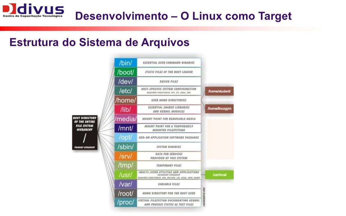 Desenvolvimento – O Linux como Target Estrutura do Sistema de Arquivos