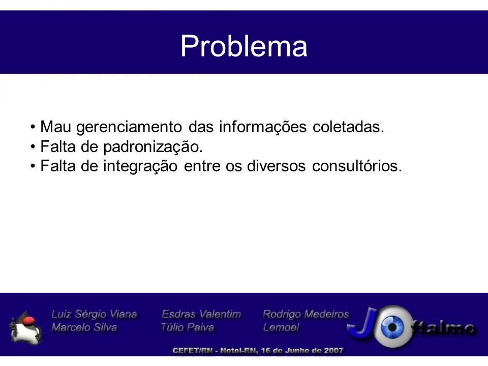 Proposta do Sistema O sistema apresenta-se como solução de gerenciamento para Clínicas Oftalmológica, visando otimizar o acesso as informações que são geradas no dia a dia.