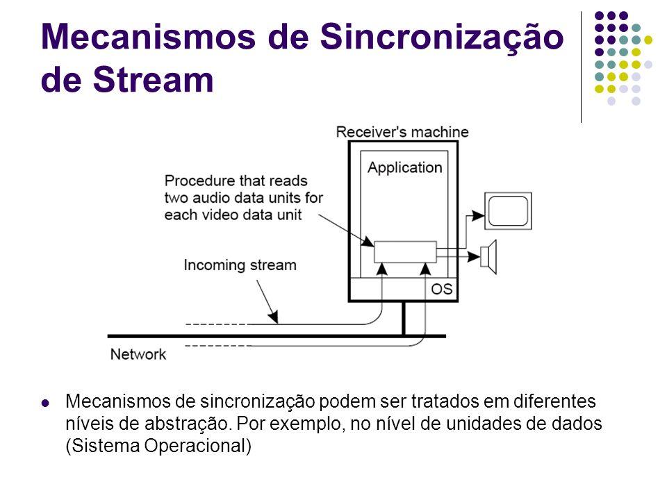Mecanismos de Sincronização de Stream Mecanismos de sincronização podem ser tratados em diferentes níveis de abstração. Por exemplo, no nível de unida