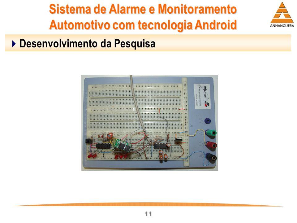 11 Sistema de Alarme e Monitoramento Automotivo com tecnologia Android Desenvolvimento da Pesquisa