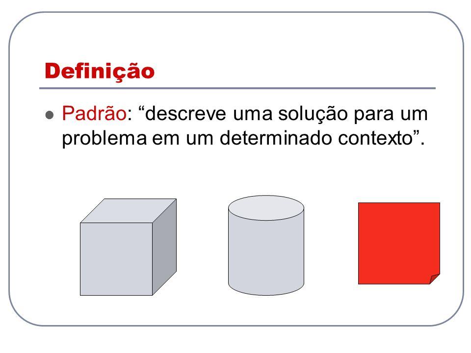 Definição Padrão: descreve uma solução para um problema em um determinado contexto.