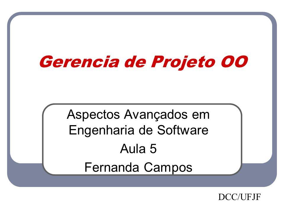 Gerencia de Projeto OO Aspectos Avançados em Engenharia de Software Aula 5 Fernanda Campos DCC/UFJF