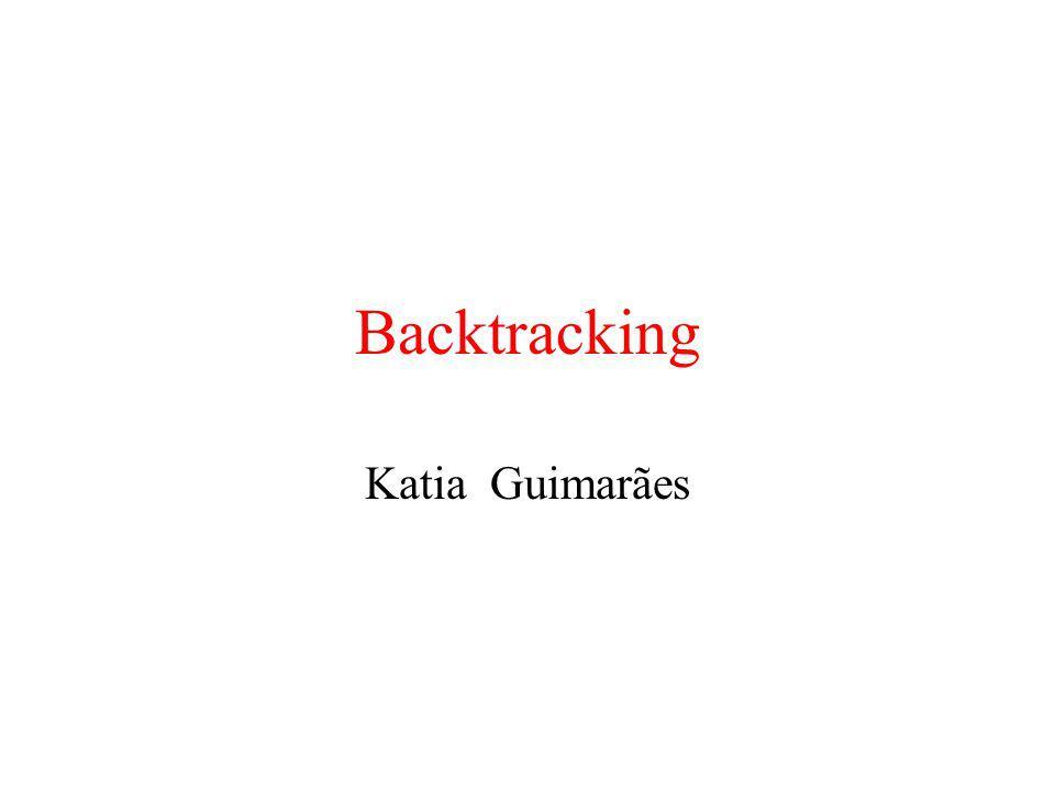 Backtracking Katia Guimarães