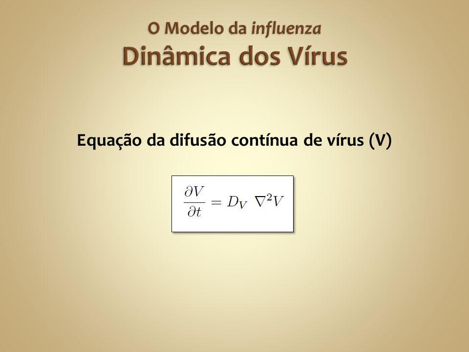Equação da difusão contínua de vírus (V)