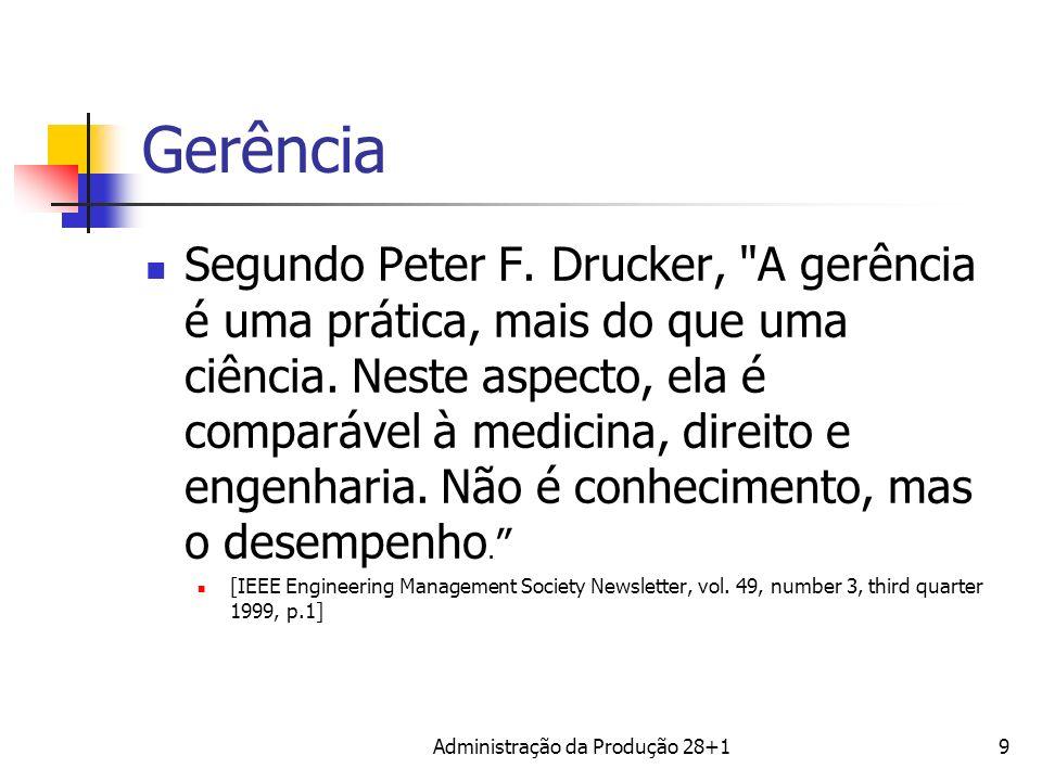 Gerência Segundo Peter F. Drucker,